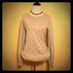 Gray Soft Bejeweled Pullover!